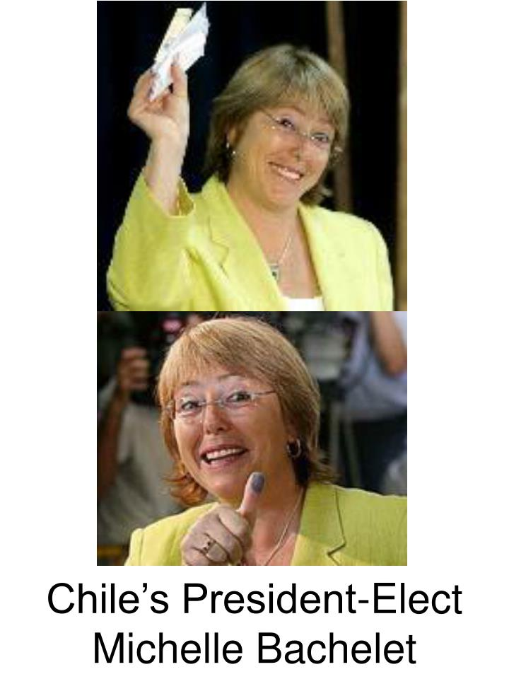 Chile's President-Elect Michelle Bachelet