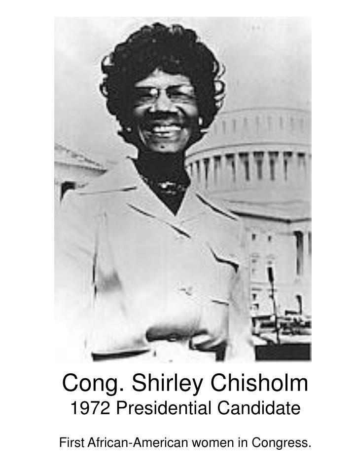 Cong. Shirley Chisholm