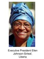executive president ellen johnson sirleaf liberia