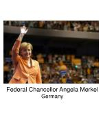 federal chancellor angela merkel germany