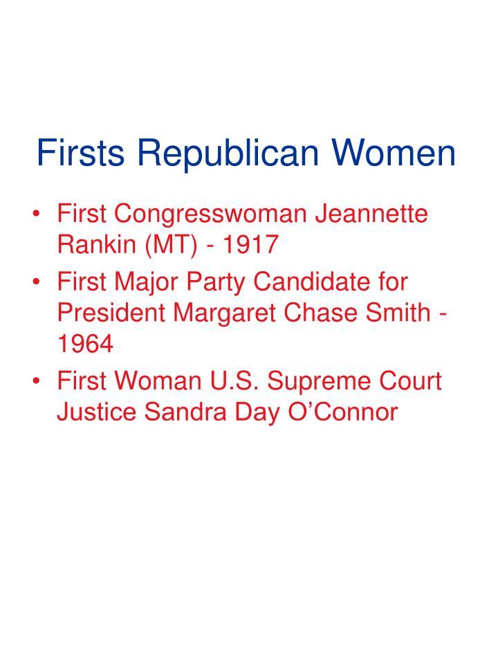 Firsts Republican Women