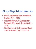firsts republican women