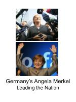 germany s angela merkel leading the nation