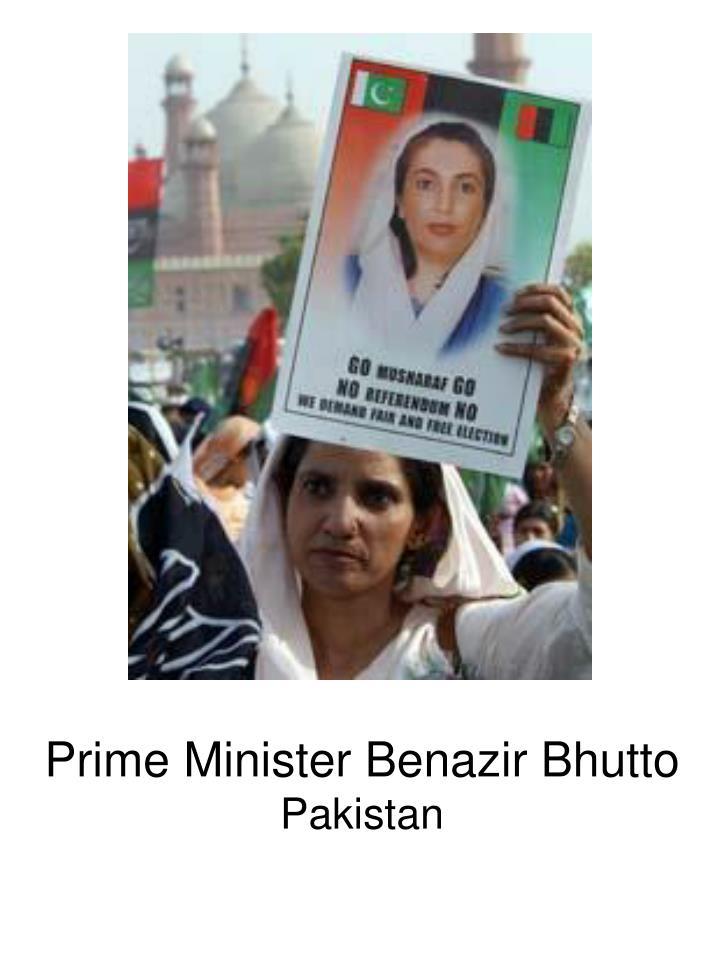 Prime Minister Benazir Bhutto