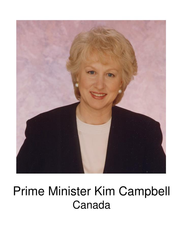 Prime Minister Kim Campbell