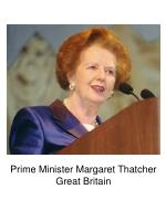 prime minister margaret thatcher great britain