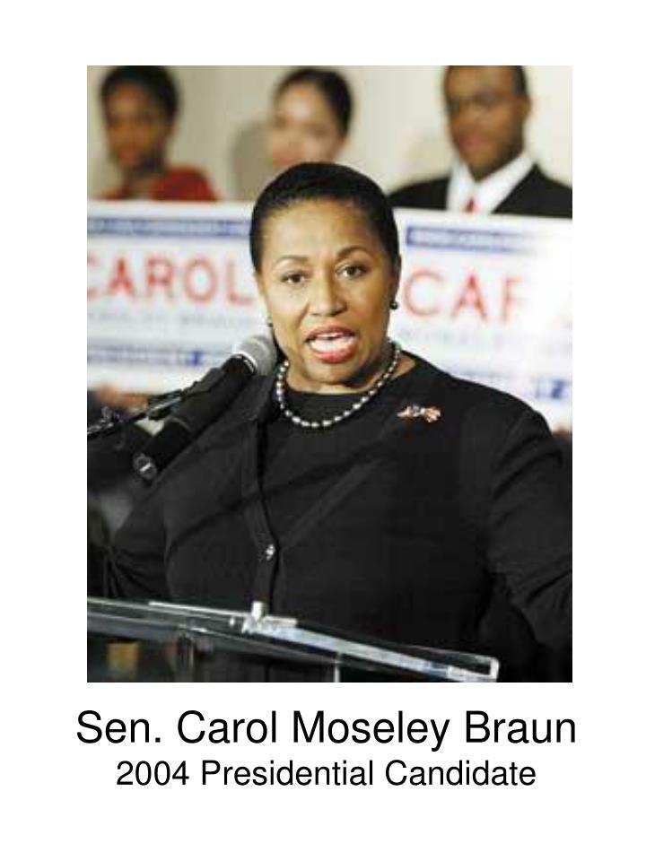 Sen. Carol Moseley Braun
