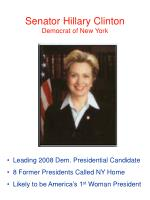senator hillary clinton democrat of new york