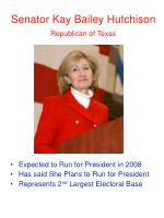senator kay bailey hutchison republican of texas