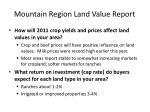 mountain region land value report31