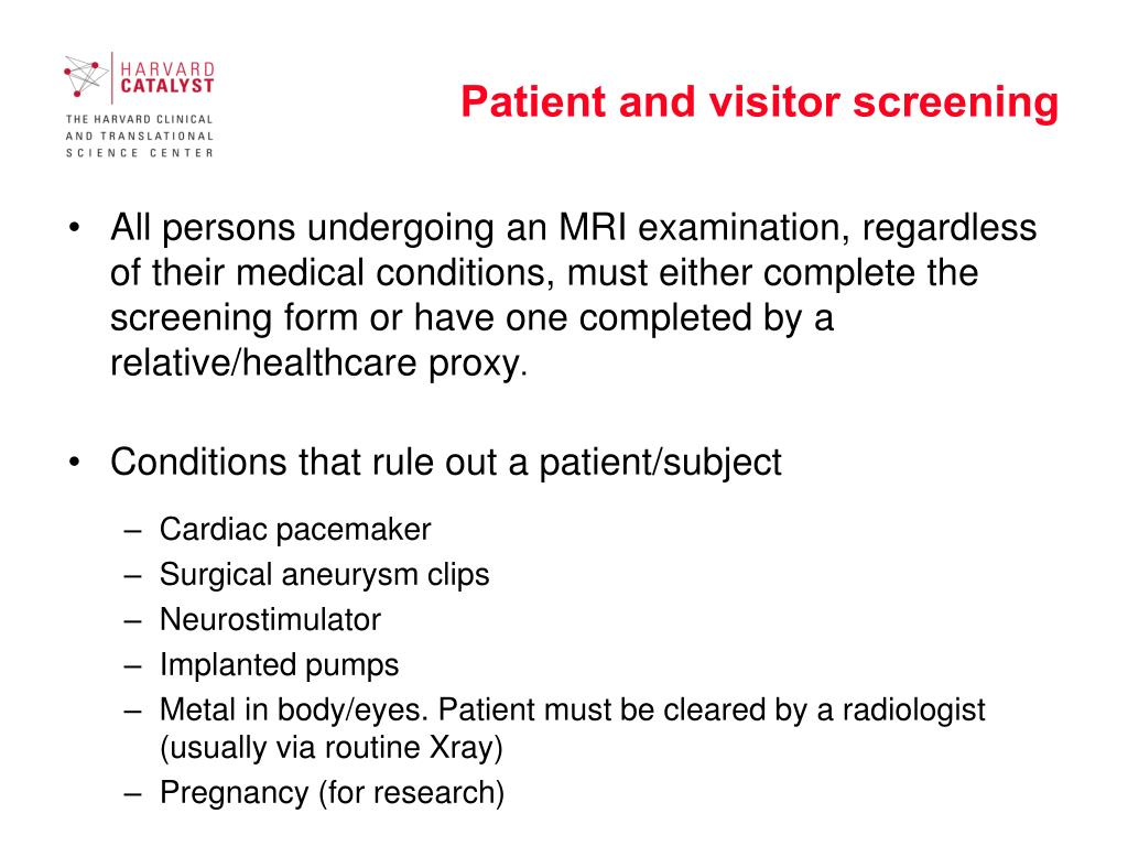Patient and visitor screening