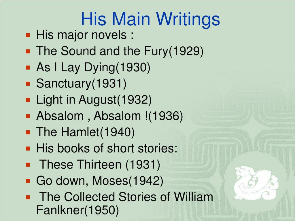 His Main Writings