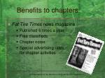 benefits to chapters13