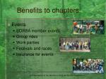 benefits to chapters7