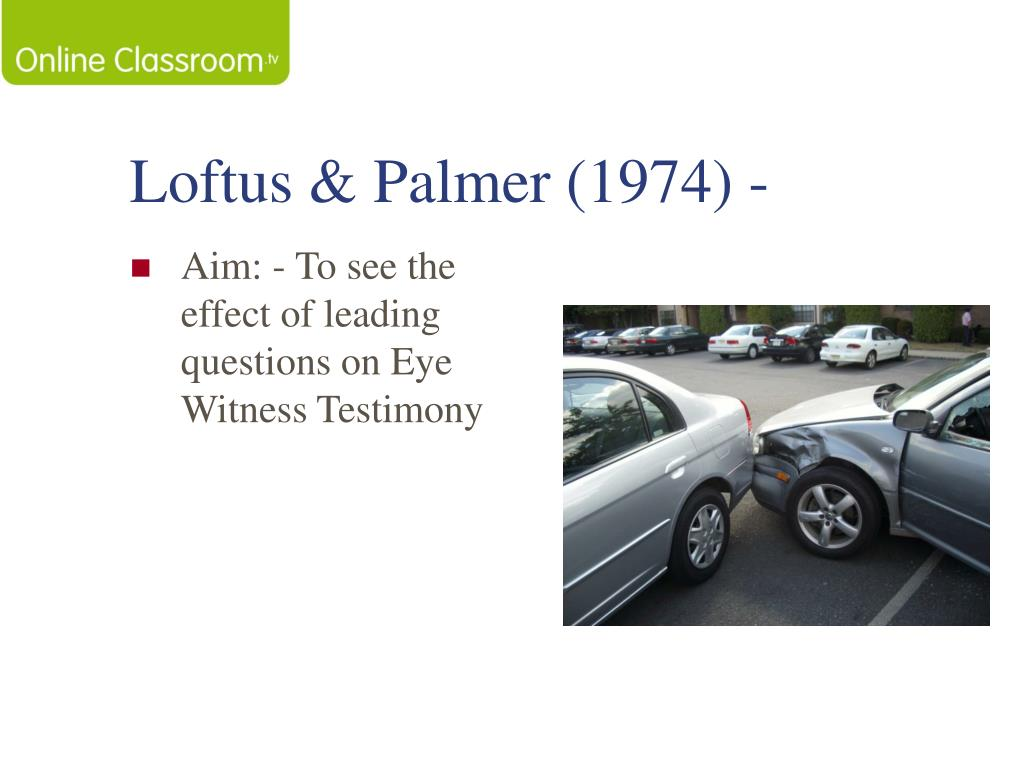 loftus and palmer review