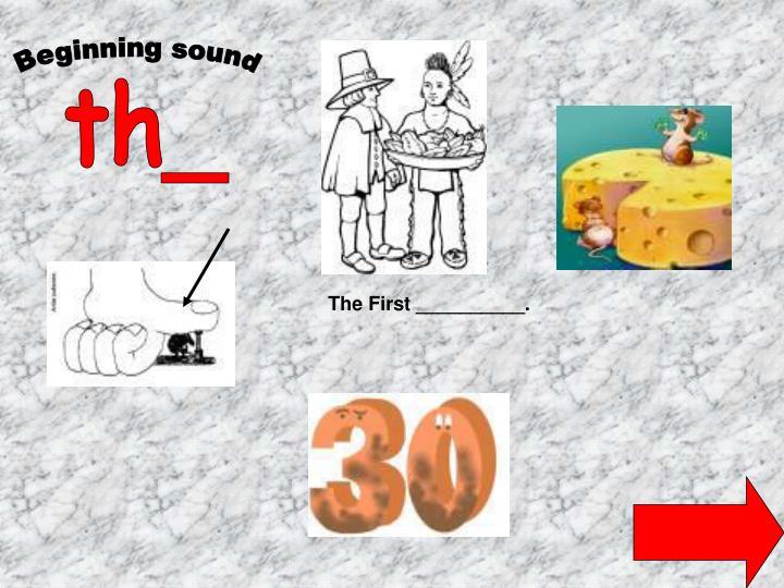 Beginning sound
