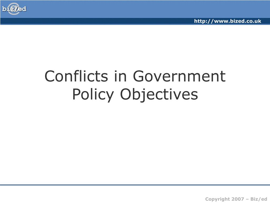 Conflicts in Government