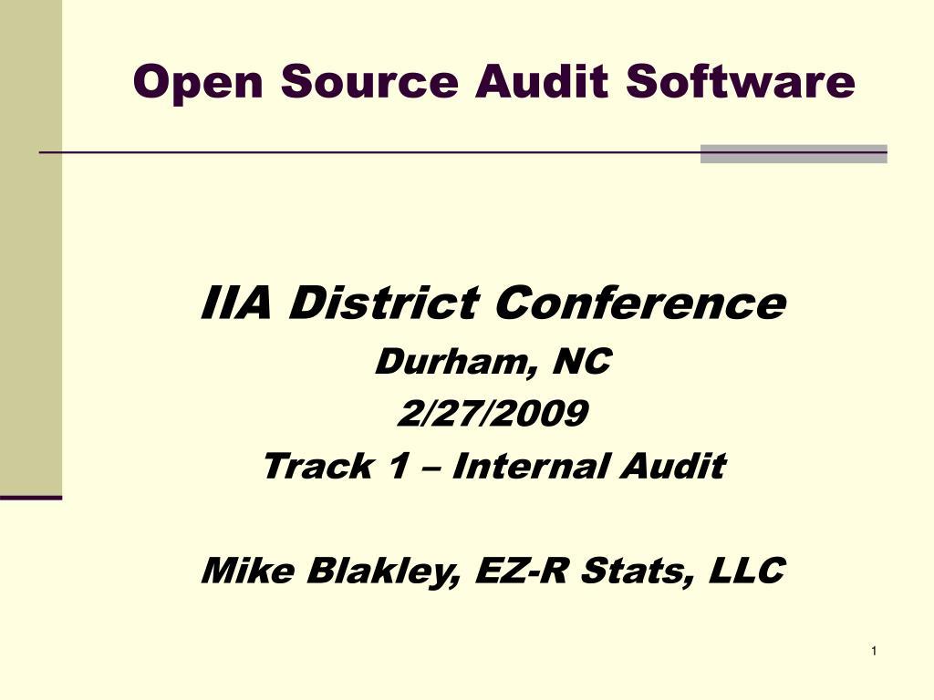 open source audit software l.