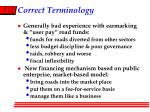 correct terminology
