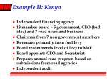 example ii kenya