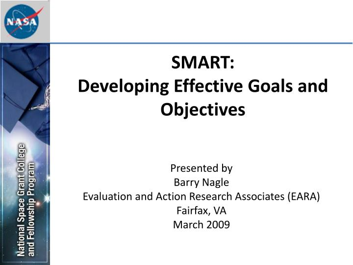 smart developing effective goals and objectives n.
