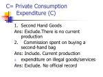 c private consumption expenditure c