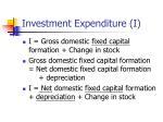 investment expenditure i8