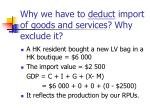 why we have to deduct import of goods and services why exclude it