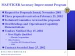 maf tiger accuracy improvement program17
