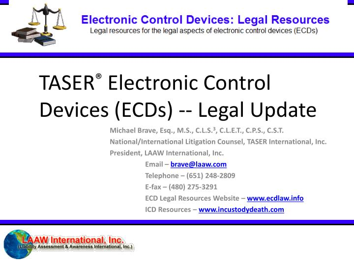 taser electronic control devices ecds legal update n.