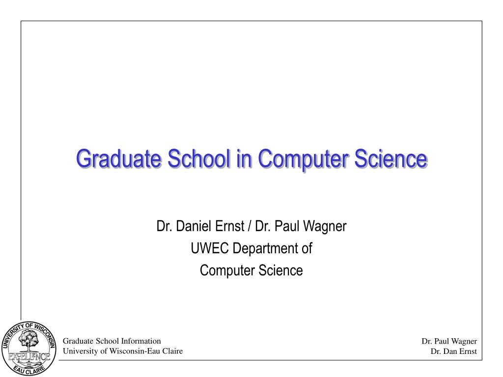 graduate school in computer science l.