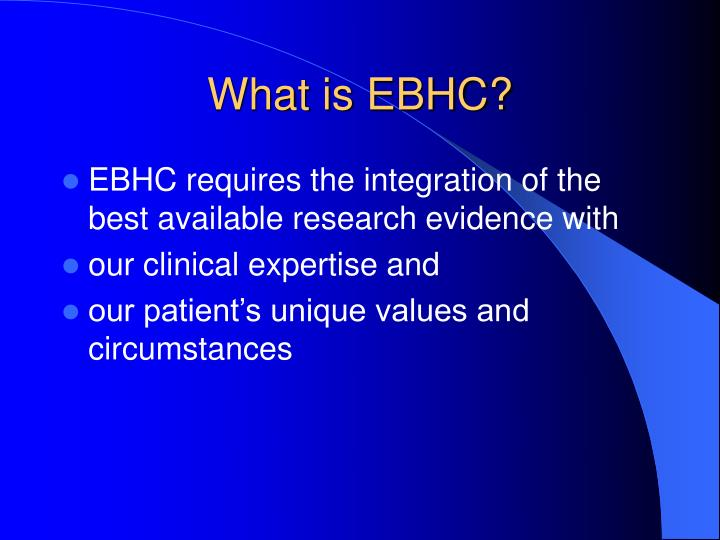 What is ebhc