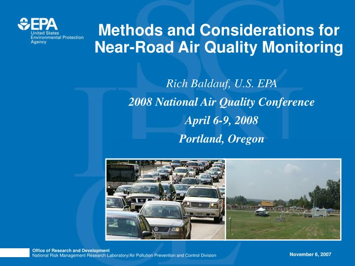 methods and considerations for near road air quality monitoring n.