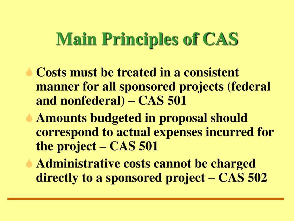 Main Principles of CAS