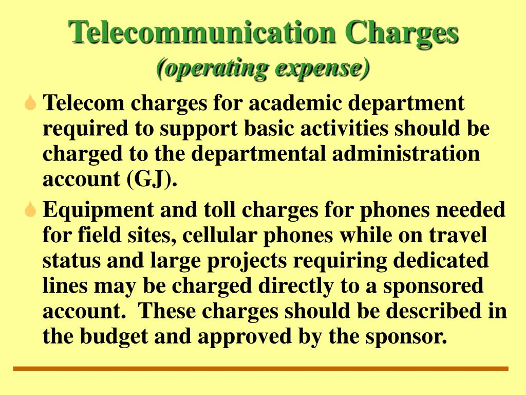 Telecommunication Charges
