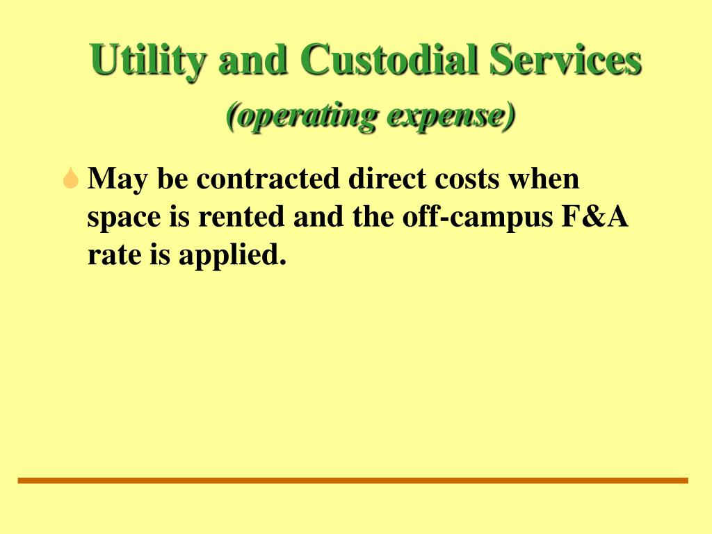 Utility and Custodial Services