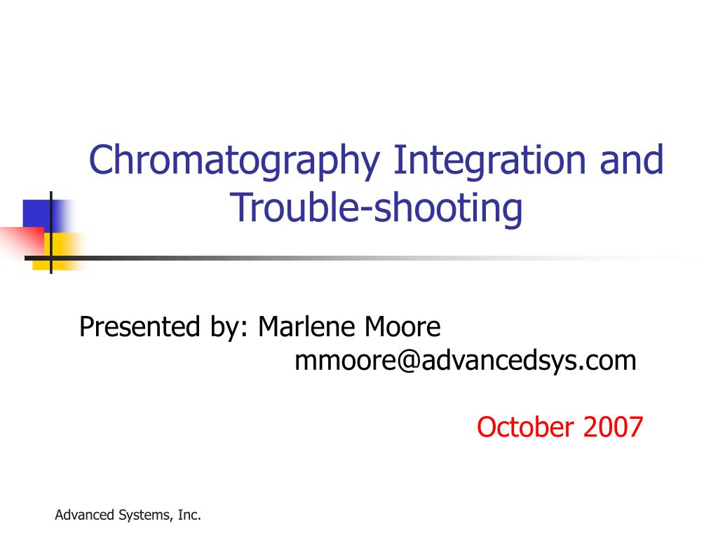 chromatography integration and trouble shooting l.