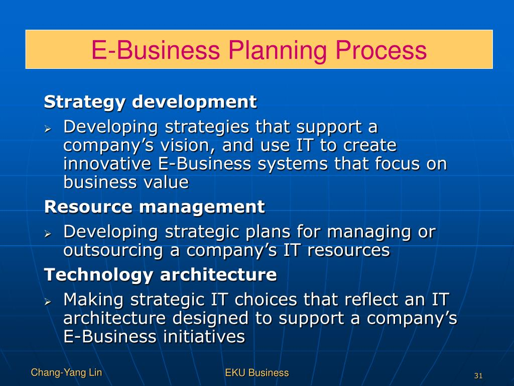 E-Business Planning Process