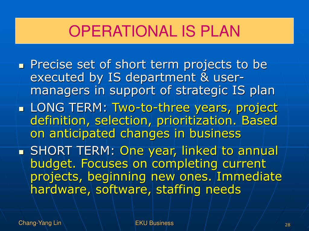 OPERATIONAL IS PLAN