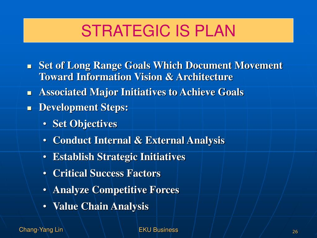 STRATEGIC IS PLAN