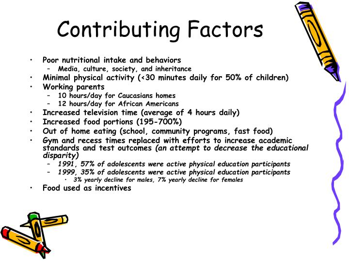 factors contributing to obesity and diabetes among americans Unhealthy eating and physical inactivity are leading causes of death in the us  unhealthy  diseases, such as heart disease, cancer, and type 2 diabetes1 in  the last 30 years, obesity  risk factors and the number of deaths in the us,  20161  number of americans living with diseases related to diet and  inactivity.