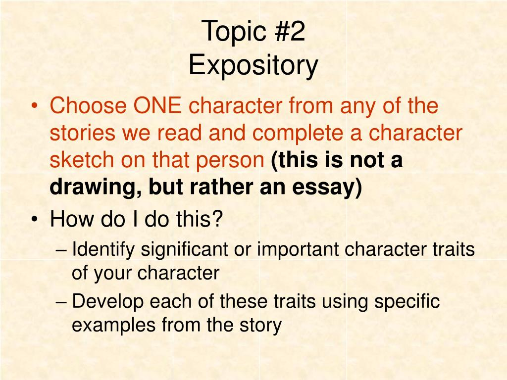 what are the features of an expository essay