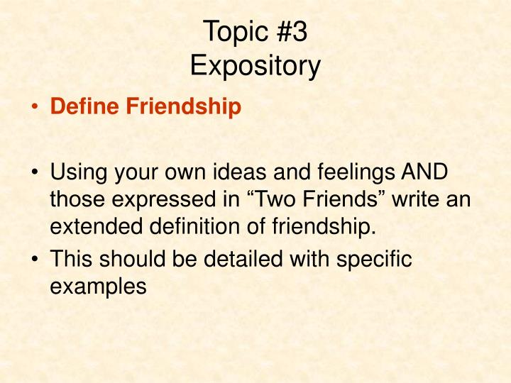 expository definition examples