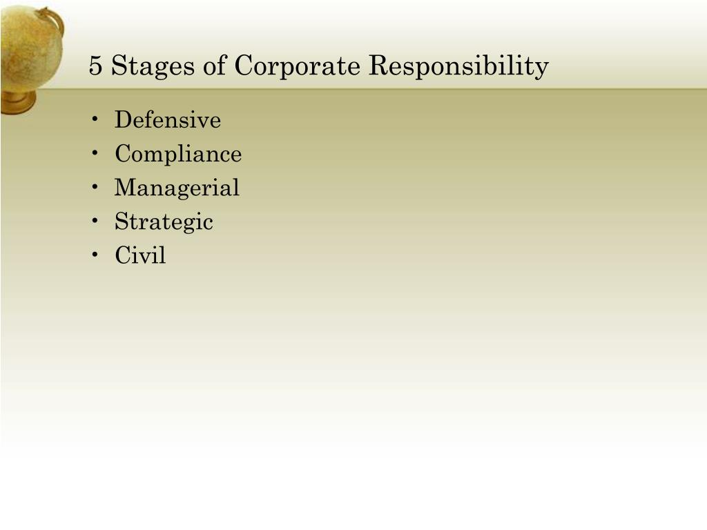 5 Stages of Corporate Responsibility