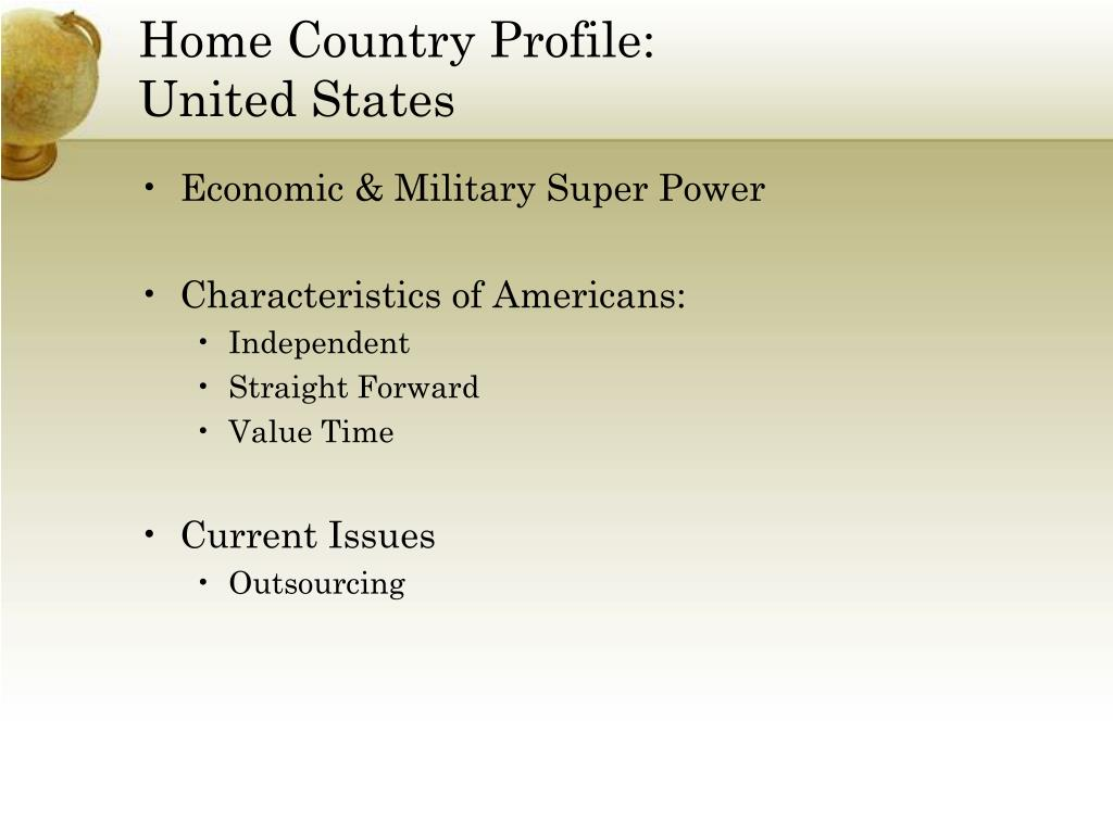 Home Country Profile: