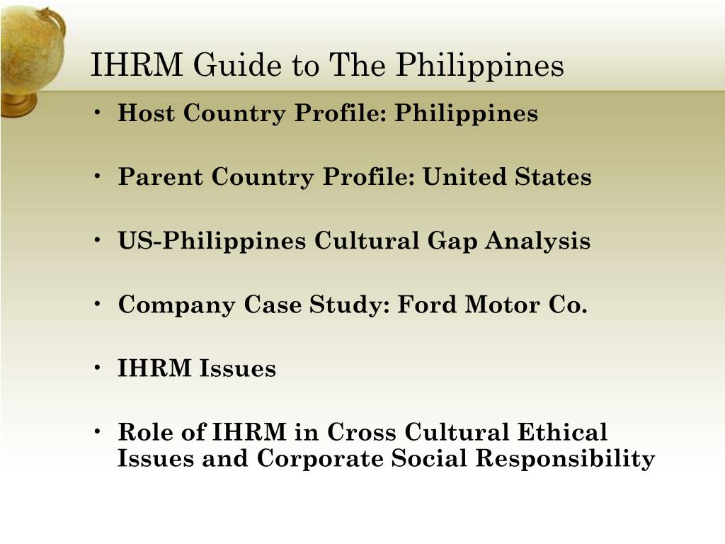 IHRM Guide to The Philippines
