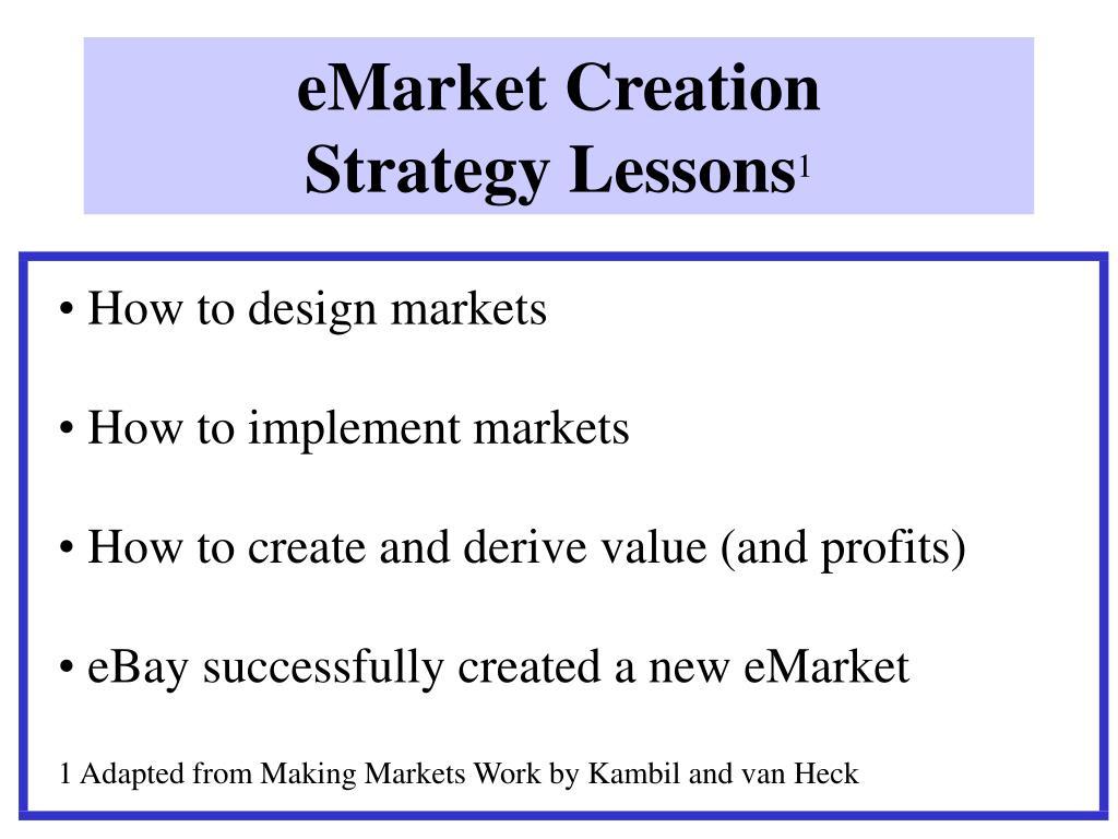 eMarket Creation