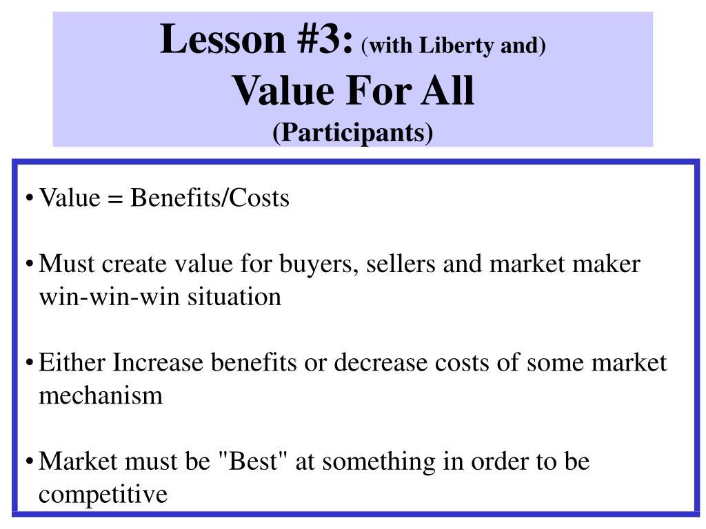 Lesson #3: