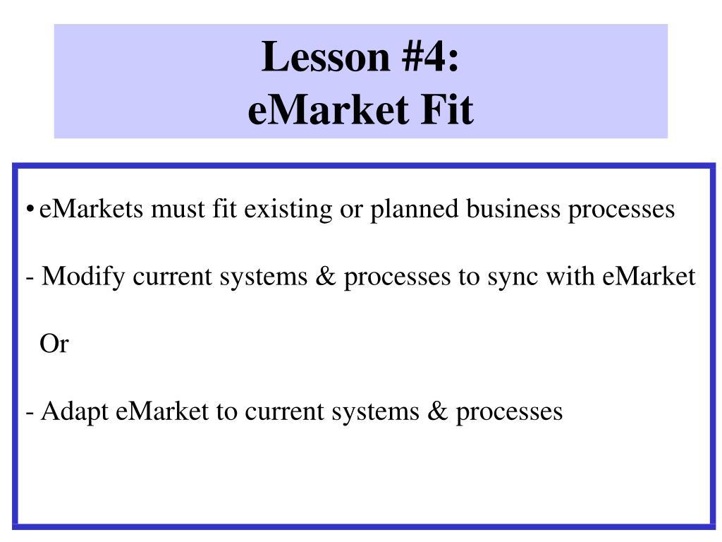 Lesson #4: