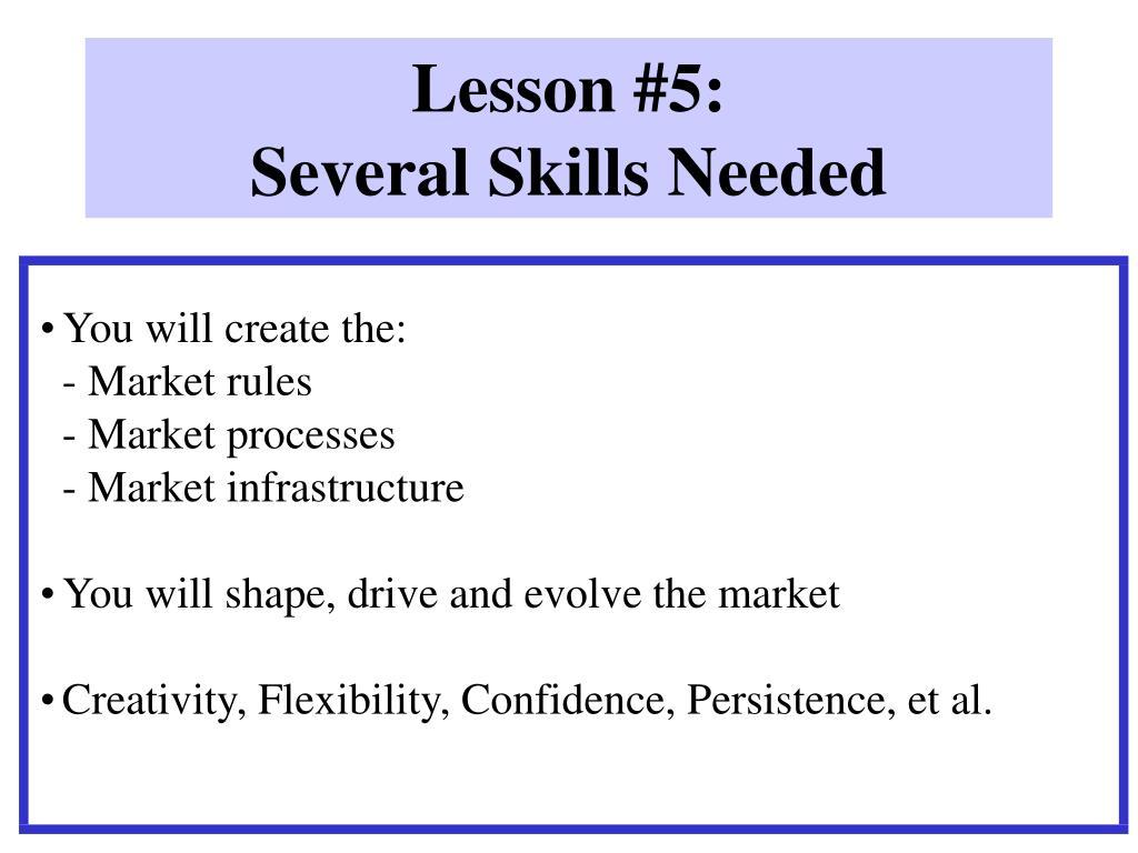 Lesson #5: